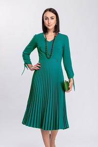 Zielona sukienka Semper midi z długim rękawem