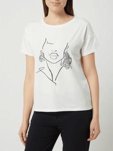 T-shirt comma, z nadrukiem z bawełny