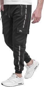 Czarne spodnie sportowe Risardi
