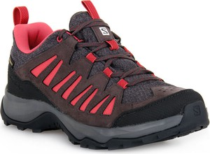 Brązowe buty sportowe Salomon w sportowym stylu z płaską podeszwą