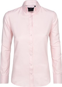 Różowa koszula Di Selentino z bawełny z długim rękawem