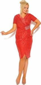 Sukienka Sukienki M&M kopertowa z krótkim rękawem mini