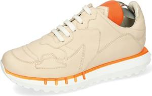 Buty sportowe Melvin & Hamilton sznurowane ze skóry z płaską podeszwą