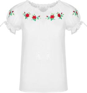 Bluzka JK Collection z krótkim rękawem z okrągłym dekoltem