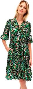 Sukienka POTIS & VERSO z długim rękawem w stylu casual