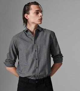 Czarna koszula Reserved z wełny z długim rękawem