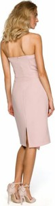 Różowa sukienka MOE midi ołówkowa