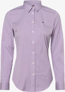 Fioletowa koszula Tommy Hilfiger z długim rękawem