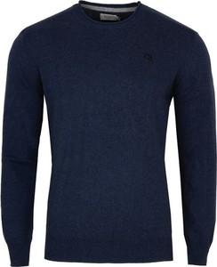 Niebieski sweter Pepe Jeans z wełny z okrągłym dekoltem w stylu casual