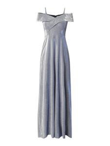 Sukienka Christian Berg Cocktail z odkrytymi ramionami z satyny z krótkim rękawem