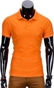 Pomarańczowa koszulka polo Edoti