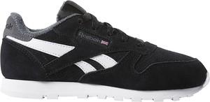 Czarne buty sportowe dziecięce Reebok w paseczki sznurowane