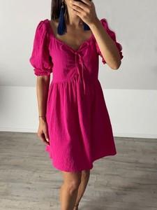 Sukienka Biancaloren.pl w stylu casual z dekoltem w kształcie litery v