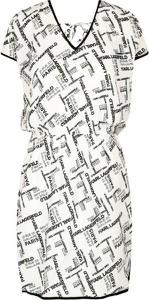 Sukienka Karl Lagerfeld prosta w stylu casual z dekoltem w kształcie litery v