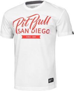 T-shirt Pit Bull w młodzieżowym stylu z bawełny z krótkim rękawem