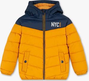 Żółta kurtka dziecięca Palomino z plaru