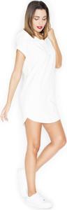 Sukienka Katrus z krótkim rękawem z okrągłym dekoltem z bawełny