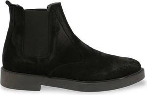 Czarne buty zimowe Sb 3012