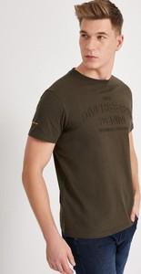 Zielony t-shirt Diverse z krótkim rękawem