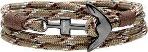 Manoki BA773A bransoletka z kotwicą brązowa