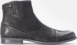 Czarne buty zimowe Kazar z nubuku w stylu casual na zamek
