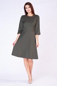 Sukienka butik-choice.pl z długim rękawem trapezowa
