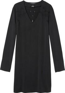Czarna sukienka Scotch & Soda w stylu casual z dekoltem w kształcie litery v