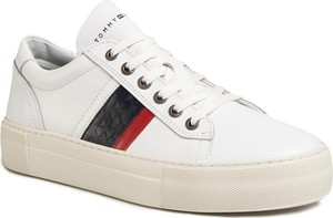 TOMMY HILFIGER Sneakersy Fashion Th Leather Cupsole FM0FM02741 Biały