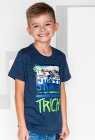 Granatowa koszulka dziecięca Ombre Clothing