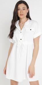 Sukienka born2be z krótkim rękawem koszulowa
