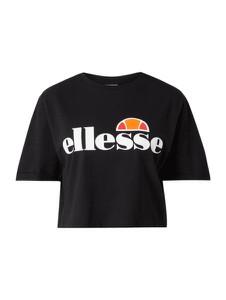 Bluzka Ellesse z bawełny z krótkim rękawem z okrągłym dekoltem