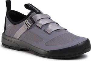 Fioletowe buty trekkingowe Arc'teryx ze skóry ekologicznej