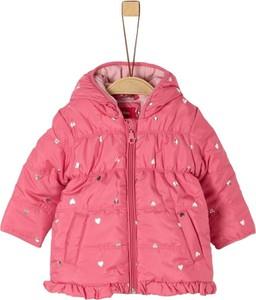 Różowy płaszcz dziecięcy S.Oliver dla dziewczynek