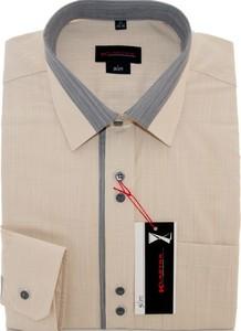 Koszula Klasyka Kielce z włoskim kołnierzykiem z długim rękawem