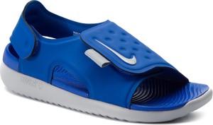 Niebieskie buty dziecięce letnie Nike na rzepy