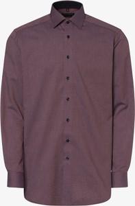 Fioletowa koszula Finshley & Harding z długim rękawem z klasycznym kołnierzykiem z bawełny
