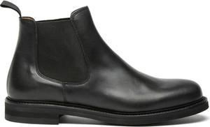 Czarne buty zimowe Berwick ze skóry