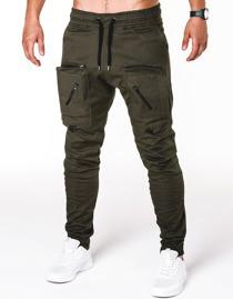 Zielone spodnie Ombre Clothing z bawełny