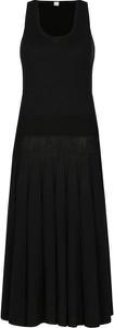 Czarna sukienka Hugo Boss z jedwabiu