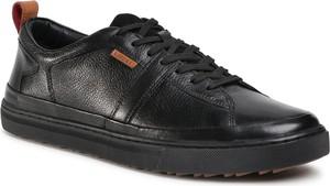 Czarne buty sportowe Lasocki For Men ze skóry