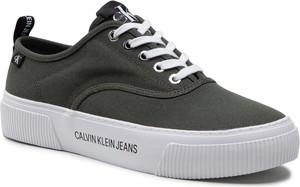 Tenisówki CALVIN KLEIN JEANS - Vulcanized Skate Oxford Co YM0YM00023 Dark Olive LEX