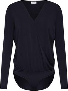 Czarna bluzka JACQUELINE DE YONG z dżerseju z dekoltem w kształcie litery v