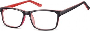 Stylion Okulary Zerówki klasyczne oprawki Sunoptic CP155C czarno-rozowe