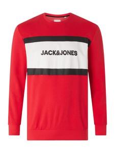 Czerwona bluza Jack & Jones Plus z bawełny