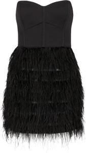 Czarna sukienka Marciano mini bez rękawów gorsetowa
