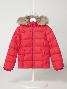 Różowa kurtka dziecięca T. Hilfiger Teens