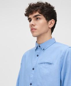 Niebieska koszula Cropp z bawełny