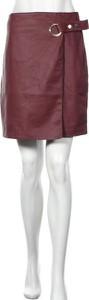 Czerwona spódnica Reserved mini ze skóry