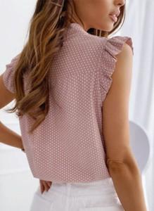 Różowa bluzka Sandbella z krótkim rękawem