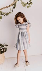 Sukienka dziewczęca Lily Grey z lnu